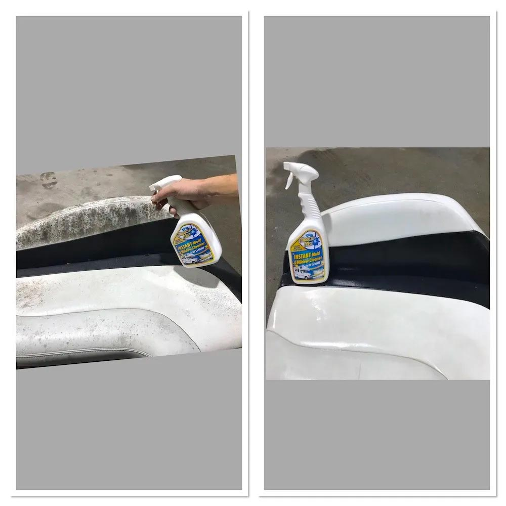 remove mold and mildew from boat