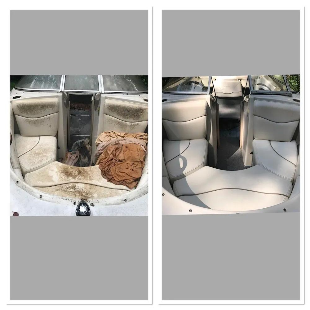 remove mold and mildew from boats