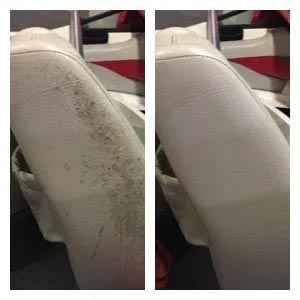 Before and After using Miracle Mist Mold and Mildew Cleaner