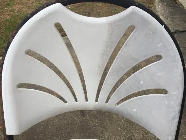 using miraclemist cleaner on chair back
